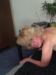Granny rides young cock