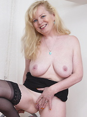 Horny and naughty housewife is home alone